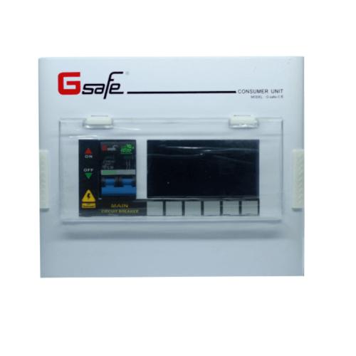 Gsafe ตู้คอนซูเมอร์-เมนเบรกเกอร์ G safe-C6/6ช่อง 50A G safe-C6/6ช่อง 50A สีขาว
