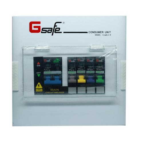 G-Safe ตู้คอนซูเมอร์สำเร็จ C4/4ช่อง 50A  สีขาว