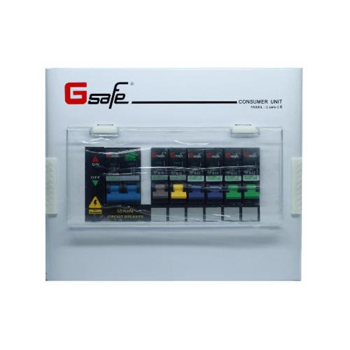 Gsafe ตู้คอนซูเมอร์สำเร็จ G safe-C6/6ช่อง 50A C6 ขาว
