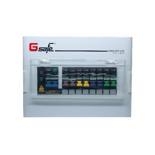 Gsafe ตู้คอนซูเมอร์สำเร็จ G safe-C8/8ช่อง 50A C8 ขาว