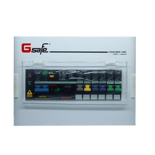 G-Safe ตู้คอนซูเมอร์สำเร็จครบชุด G safe-R6/6ช่อง50A กันดูด CTM-R6/6 slot 50A G safe สีขาว