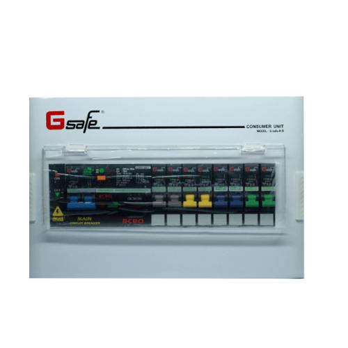 G-Safe ตู้คอนซูเมอร์สำเร็จครบชุด G safe-R8/8ช่อง50A กันดูด CTM-R8/8 slot 50A G-safe สีขาว