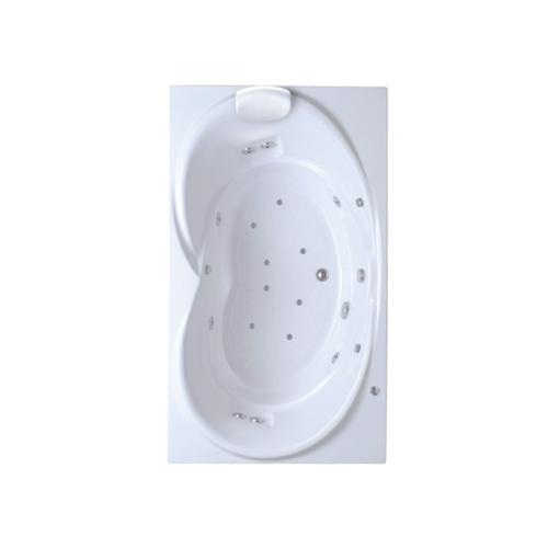 American Standard อ่างอาบน้ำวน-อัดอากาศซาโวนาเหลี่ยม ขาว 7282-WT 7282-WT สีขาว