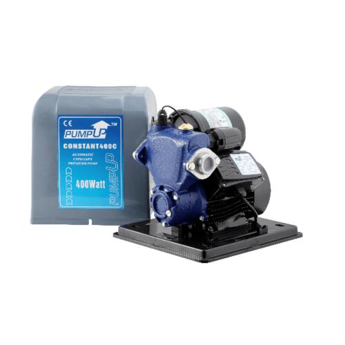 PUMP UP ปั๊มน้ำอัตโนมัติถังแรงดันคงที่มีฝาครอบ 400W.  CONSTANT 400C สีน้ำเงิน