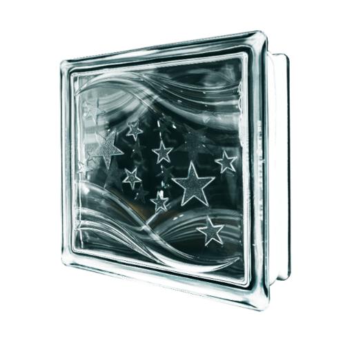 ช้างแก้ว บล็อกแก้วใส แก้วประกายดาว ( 190 x 190 x 80 mm )  N-044
