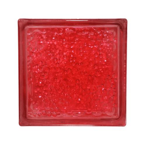 ช้างแก้ว บล็อกแก้วสี ฟองแก้ว   N-008/945 สีแดง