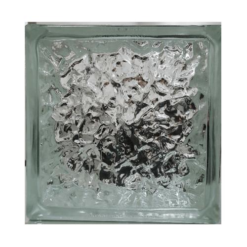 ช้างแก้ว บล็อกแก้วใส 3 พลอยประดับฟ้า  ( E-105 ) ECO Block