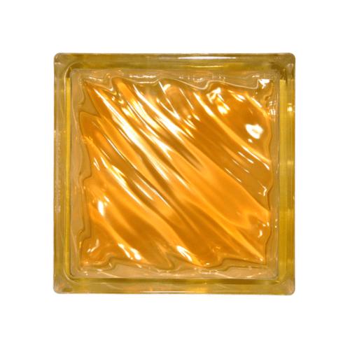 ช้างแก้ว บล็อกแก้วสี คลื่นสมุทร  N-009/942  สีส้ม