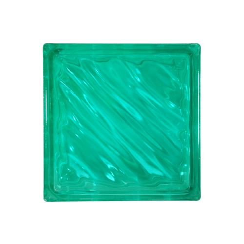 ช้างแก้ว บล็อกแก้วสี คลื่นสมุทร N-009/943  สีเขียว