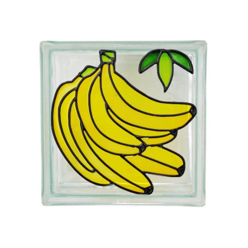 ช้างแก้ว บล็อกแก้วตกแต่งเดี่ยว กล้วย N-014/508