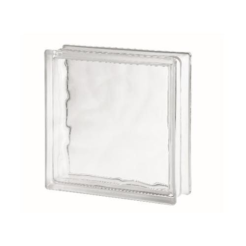 ช้างแก้ว บล็อกแก้วใส แก้วเมฆา (300x300x100mm.)  I-018/04 A.