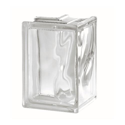 ช้างแก้ว บล็อกแก้วใส แก้วเมฆา เข้ามุม 90องศา  (132x190x80mm.)I-018/08 A.
