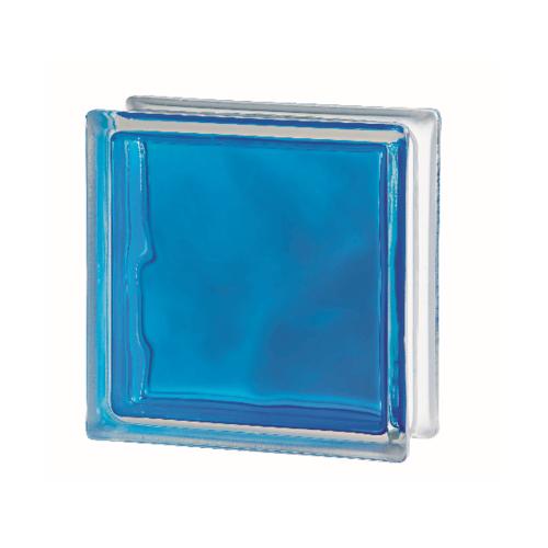 ช้างแก้ว บล็อกแก้วสี แก้วเมฆา เทคนิคกลิ้ง  I-018/301. สีฟ้า