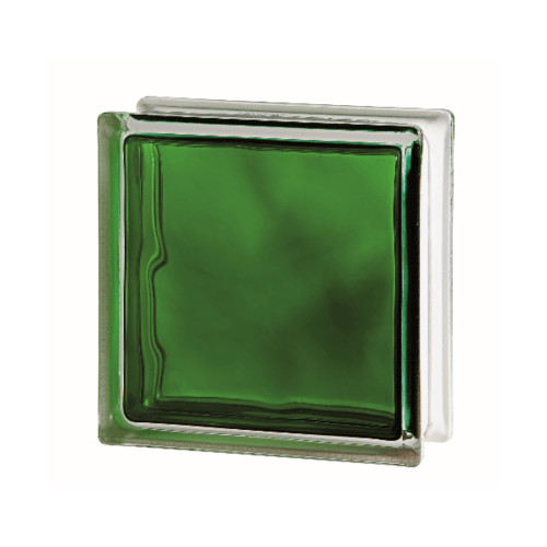 ช้างแก้ว บล็อกแก้วสี แก้วเมฆา เทคนิคกลิ้ง  I-018/303. สีเขียว