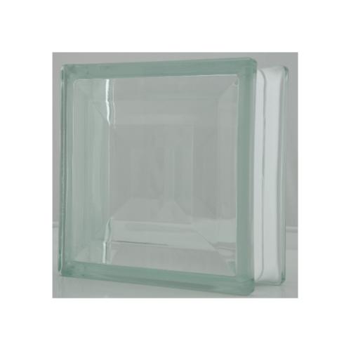ช้างแก้ว บล็อกแก้วใส 3 ขนาด 190 x 190 x 80 mm ผลึกพลอย(E-102) A.