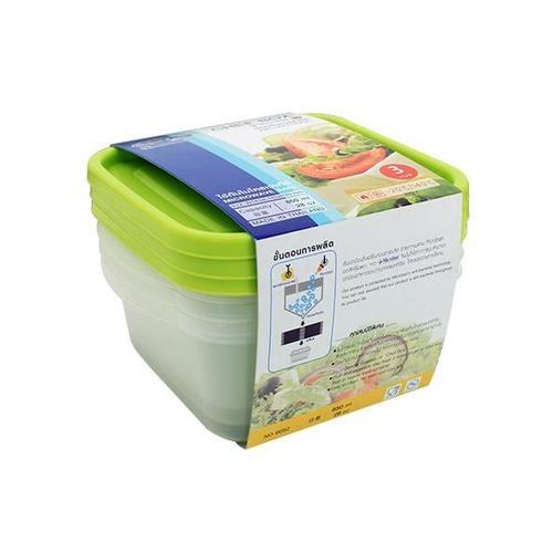 SUPER LOCK กล่องเชฟบ็อค ขนาดบรรจุ 850 ml. (3ชิ้น/แพ็ค) 6052 เขียว