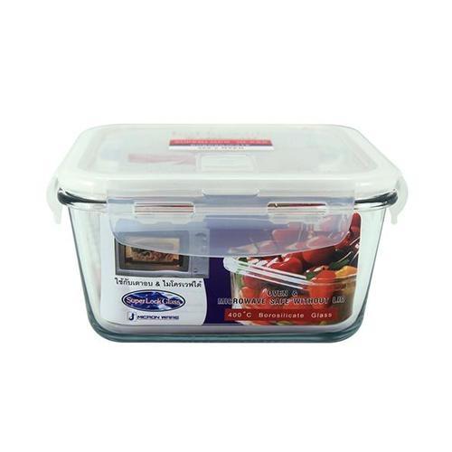 SUPER LOCK กล่องอาหารสี่เหลียม ขนาดบรรจุ 900 ml.  6086 ใส