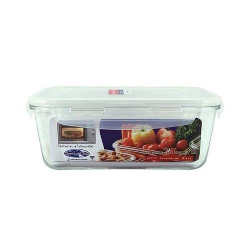 SUPER LOCK กล่องอาหารสี่เหลียม ขนาดบรรจุ 1200 ml.  6090 ขาว