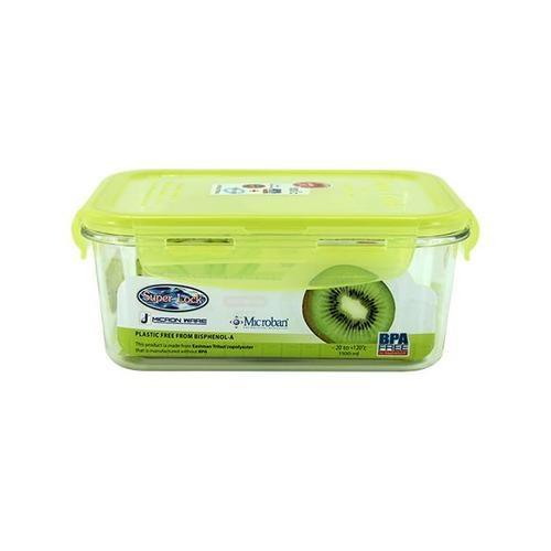 SUPER LOCK กล่องถนอมอาหาร ขนาดบรรจุ1100 ml. 6889 เขียว