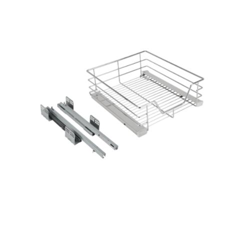 HAFELE  ชุดตะแกรงเหล็กบานเปิด ขนาดตู้ 400มม.ราง450มม.  495.35.140