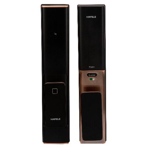 HAFELE ชุดล็อคประตูดิจิตอล PP8100 แบบ PUSH-PULL 499.21.186 สีทองแดงรมดำ ทองแดงรมดำ