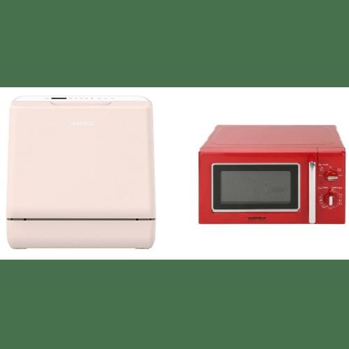 HAFELE ชุดโปรโมชั่นเครื่องล้างจาน+ไมโครเวฟ  495.07.312 สีชมพู+แดง