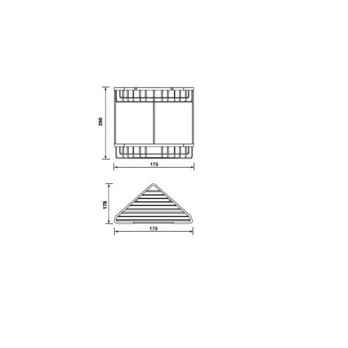 HAFELE ตะแกรงเข้ามุม 2 ชั้น  499.98.010 สีโครเมี่ยม
