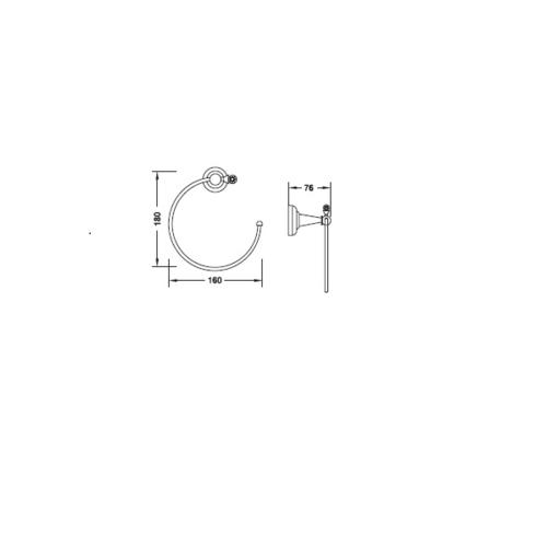 HAFELE ห่วงแขวนผ้า  495.80.052 สีโครเมี่ยม