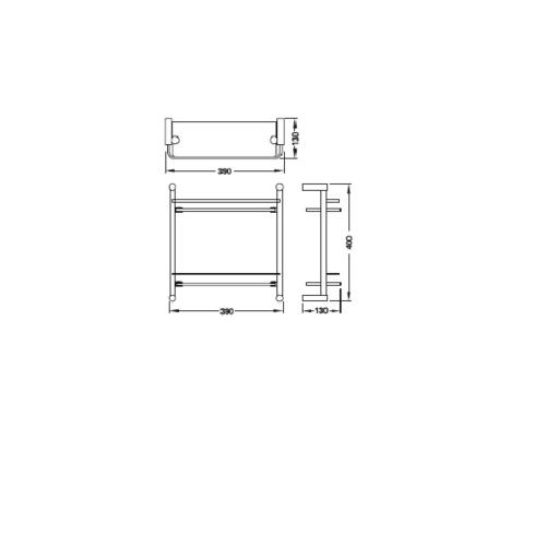 HAFELE หิ้งเรียบวางของ แบบ 2 ชั้น  499.98.005 สีโครเมี่ยม