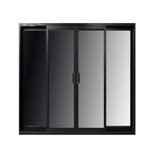 RKT ประตูไวนิล บานเลื่อน FSSF 200x205ซม.  พร้อมมุ้ง สีดำ