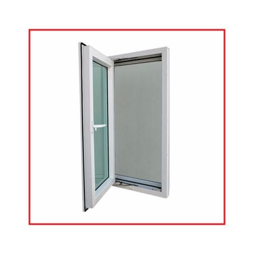 RKT หน้าต่างบานเปิดไวนิล ขนาด 50x120 ซม. กระจกสีเขียวใส   สีขาว