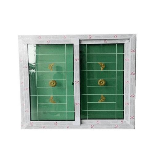 RAKANGTHONG หน้าต่างไวนิลบานเลื่อน ขนาด 150x120cm.ขาวพร้อมเหล็กดัดกระจก2ชั้น  SS WGIA150-120 สีขาว