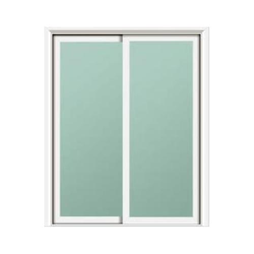 RKT หน้าต่างอลูมิเนียมบานเลื่อน SS 100x150cm.  สีขาว