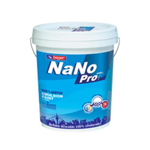Beger สีน้ำอะครีลิกทาฝ้าเพดาน  Ceiling (Pearl White)  นาโนโปร I-9800 สีขาว