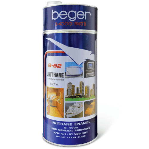Beger สีทาสระน้ำ ยูรีเทน B-4000/4335(Ocean Blue)  สีฟ้า