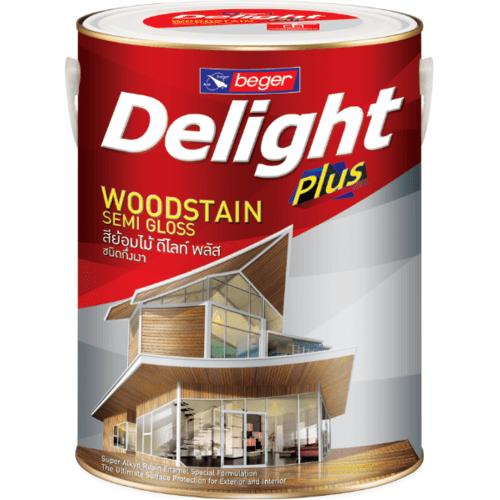 BEGER Delight WoodStain Plus  S-0103 ชนิดกึ่งเงา (สีไม้ประดู่) 1กล.