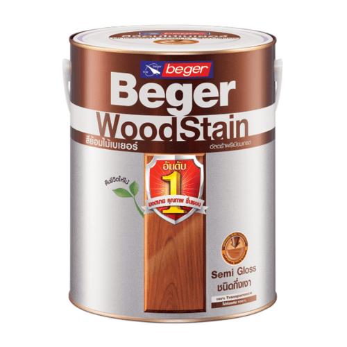 Beger สีย้อมไม้ชนิดกึ่งเงา วูดสเตน S-2908  1gl. (EBONY/สีไม้มะเกลือ)