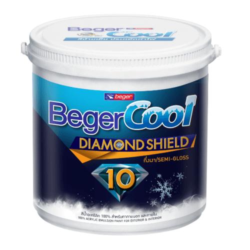 Beger สีน้ำอะครีลิคเบเยอร์คูล ไดมอนด์ชิลด์ 10 ปี ชนิดกึ่งเงา เบส B กล. สีขาว