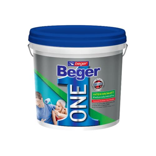 Beger สีน้ำอะคริลิกเบเยอร์วัน ภายใน ชนิดเนียนด้าน  เบส A 3L สีขาว
