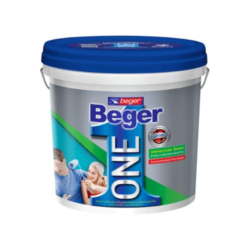Beger สีน้ำอะคริลิก ภายใน ชนิดเนียนด้าน เบส A  8L