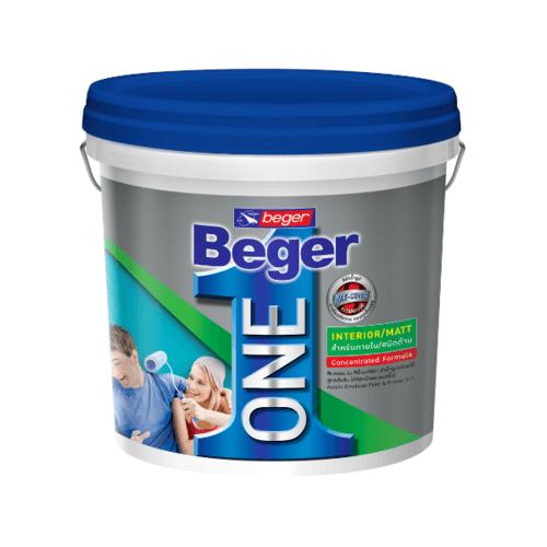 Beger สีน้ำอะคริลิกเบเยอร์วัน ภายใน ชนิดเนียนด้าน  เบส B 8L สีขาว