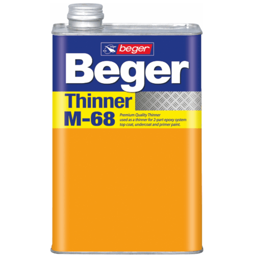 Beger ทินเนอร์  M-68 กป.(สีระบบอีพ็อกซี่และระบบสีอื่นๆที่ใกล้เคียง)