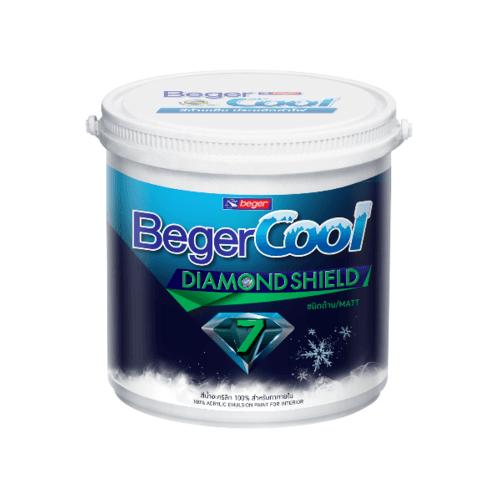 Beger สีน้ำอะครีลิคเบเยอร์คูล ไดมอนด์ชิลด์ 9L สีขาว