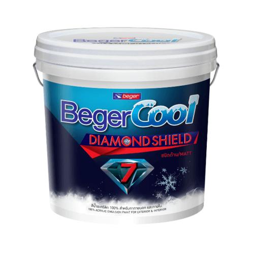 Beger สีน้ำอะครีลิคเบเยอร์คูล ไดมอนด์ชิลด์ 7 ปี ภายนอก เบส D ถัง สีขาว