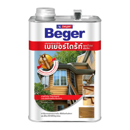 Beger ผลิตภัณฑ์รักษาเนื้อไม้ เบเยอร์ไดร้ท์  ชนิดทา สูตรน้ำมัน LB (สีชา) (1.5LT)