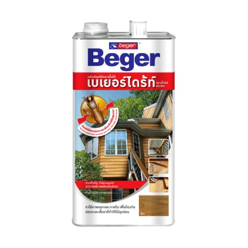 Beger ผลิตภัณฑ์รักษาเนื้อไม้ เบเยอร์ไดร้ท์ ชนิดทา สูตรน้ำมัน CL  (4LT)  (สีใส)