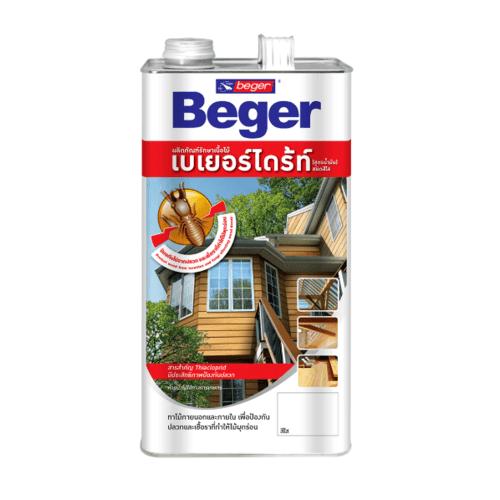 Beger ผลิตภัณฑ์รักษาเนื้อไม้ เบเยอร์ไดร้ท์ ชนิดทา  สูตรน้ำมัน (4LT) (สีชา)