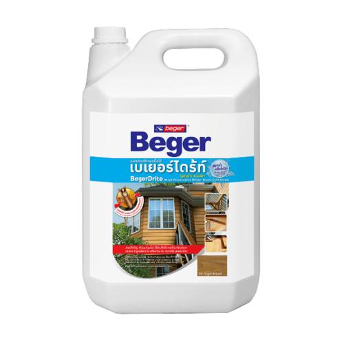 Beger ผลิตภัณฑ์รักษาเนื้อไม้ เบเยอร์ไดร้ท์ ชนิดทา  ชนิดทา สูตรน้ำ สีชา 1.5LT.