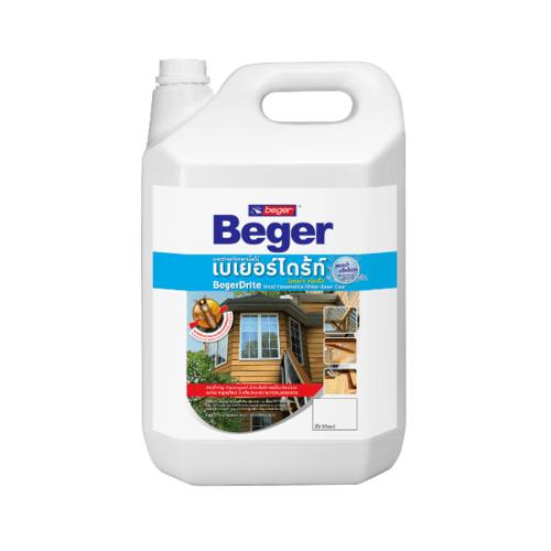 Beger ผลิตภัณฑ์รักษาเนื้อไม้ เบเยอร์ไดร้ท์ ชนิดทา   สูตรน้ำ  1.5LT สีน้ำตาลดำ