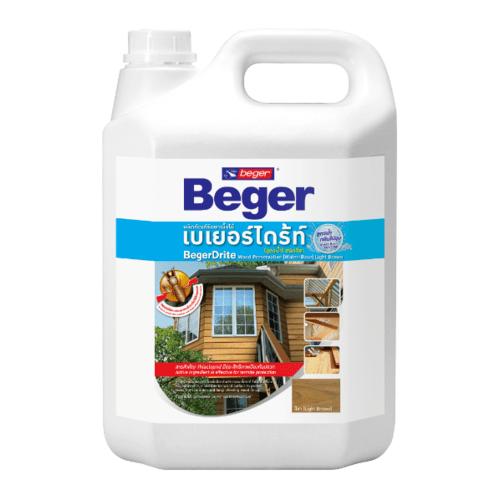 Beger ผลิตภัณฑ์รักษาเนื้อไม้ เบเยอร์ไดร้ท์  ชนิดทา สูตรน้ำ CL (สีใส) (4LT)